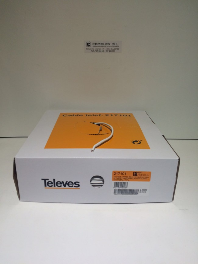 Cable telefonillo televes 2 pares ref 217101 rollos de for Cables telefonillo colores
