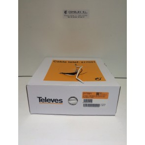 CABLE TELEFONILLO TELEVES 1 PAR REF.: 217001 (Rollos 250 mts)