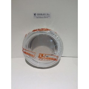 CABLE PARALELO AUDIO BLANCO 2X1 mm2(Rollos de 100 mts)